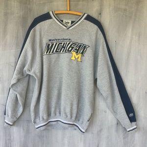 Michigan Wolverines Vtg Lee Sport Embroidered Lrg